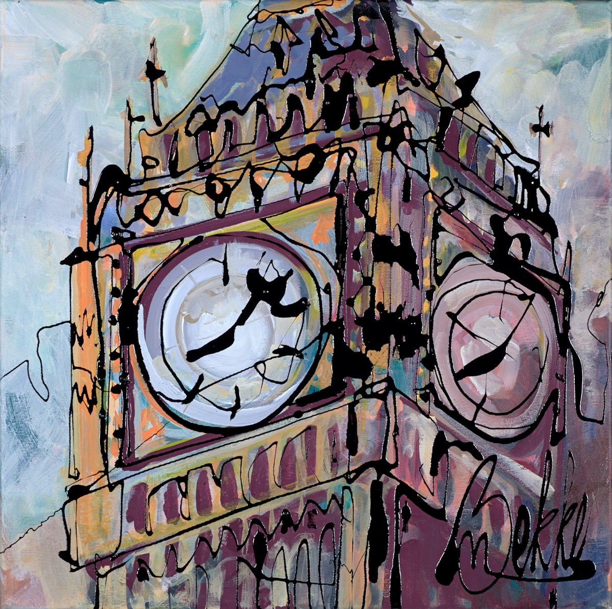 Ben O'Clock by marieke bekke -  sized 20x20 inches. Available from Whitewall Galleries